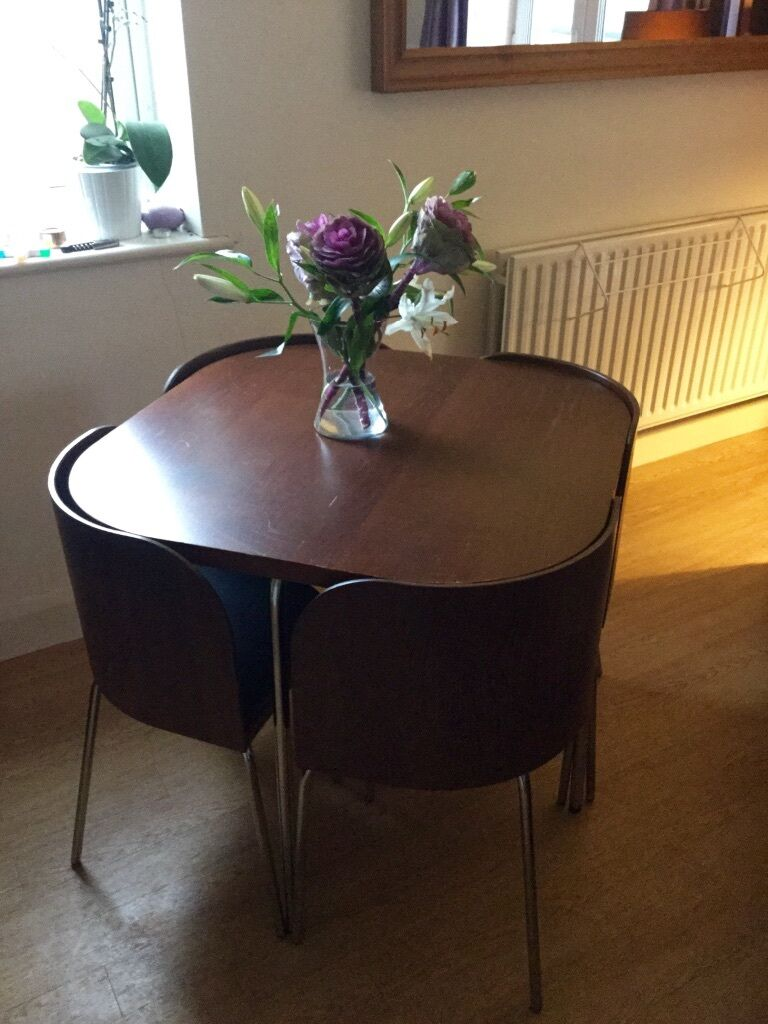 Ikea fusion table chairs for sale in islington london gumtree - Space saving dining table ikea ...