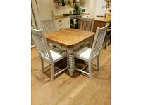 Beautiful Barley twist draw leaf table & 4 chairs