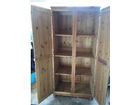 Solid pine storage cupboard/wardrobe