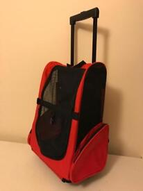 Cat or small dog carrier rucksack wheeled case