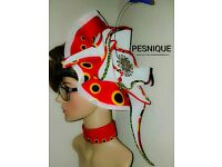 Fascinators mini women hats, african fabric matches dress buy now or place orders.