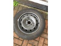 Car Tyre 205/55/R15 as New on wheel.