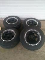 "15"" Motor Sport rims and maruader tires"