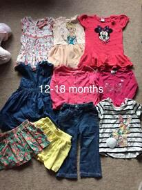 12-18 months baby girl clothes bundle