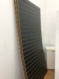 4 Black Slatwall panel shop display SLATBOARD PANELS 2400mm x 1200mm