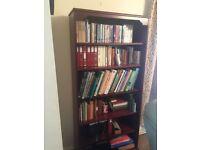 Dark wood bookcase