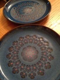 Denby midnight blue plates