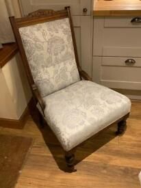 Victorian chair silver grey Delivery available