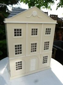 Large miniature dolls house with furniture & items