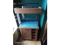 Aqua one 110 ltr tropical fish tank
