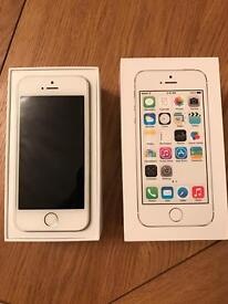 iPhone 5s, white, o2, perfect condition