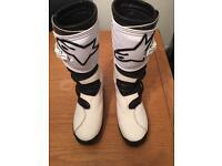 Alpinestars trials motocross boots size 10