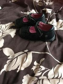 Black light up shoes