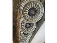 Used, BMW E3, E9, E21 E28 E30 series alpina style 14 inch alloy wheels for sale  St Leonards-on-Sea, East Sussex