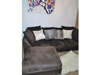 DARK BROWN LEFT OR RIGHT HANDED CORNER SOFA FOR SALE.