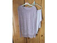 Jacques Vert 2 piece trouser set dusky/pale pink size xl