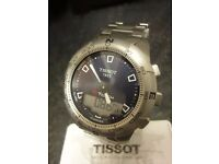 Tissot T touch chronograph alarm stainless steel watch very good condition