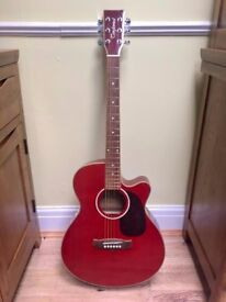 Tanglewood TSFCER Electro/Electric Acoustic Guitar - Red