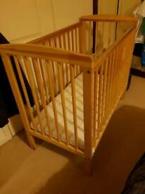 Pine space saver cot