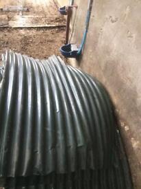 Green corrugated tin