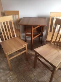 gateleg kitchen table 4 chairs