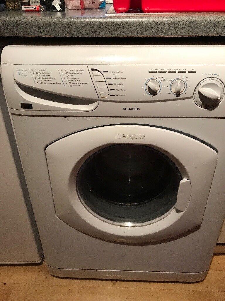 Washing Machine & Dryer Hotpoint Aquarius WD440 1400 Spin ...