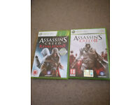 Assassin's Creed II and Assassin's creed Revelations for Xbox 360