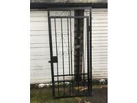Iron metal gate for front door
