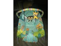 Brand new Mothercare safari mucical baby bouncer relax chair