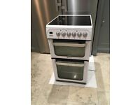 Hotpoint HUE52, white 50cm double electric oven