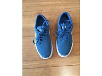 Boys blue Nike trainers size 5. Like new.