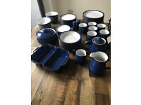 Denby Imperial Blue Dinner Service incl jugs, teapot, serving dishes etc