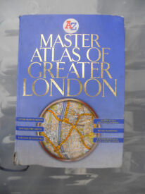 Master Atlas of Greater London by Geographers' A-Z Map Company (Hardback)