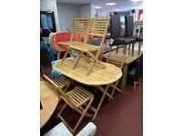 Newbury 6 Seater Wooden Patio Set - Light Wood
