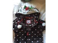 Christmas pudding onesie size 10