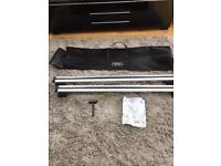 Audi Q5 Roof Bars - Hardly Used - with logo'd Carry Bag