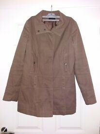 Womens Size 12 Brown Coat. Good Condition