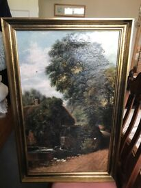 TWO original nineteenth century oil paintings by Arthur H.Davis (84 & 83) , 45cm by 76 cm