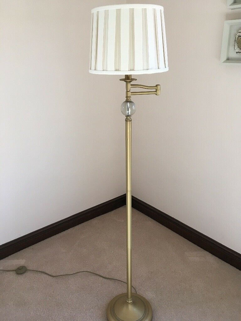 info for 96441 1b825 Laura Ashley Floor lamp in brass colour. Lamp and shade extends outwards if  you wish. | in Stockton-on-Tees, County Durham | Gumtree