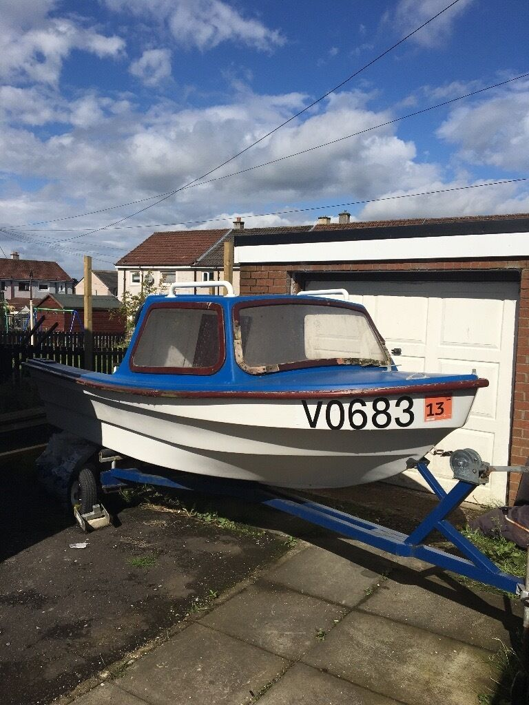 14 foot norman dijon fishing boat with trailer winch for 14 ft fishing boat