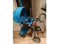 Stokke xplory and accessories urban blue