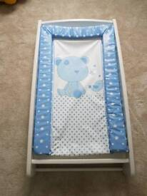 Mamas and Pappas baby cot top changer and changing mat