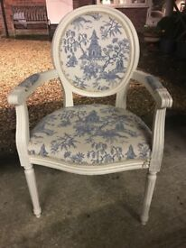 louis V decorative arm chair in good condition