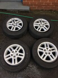 Toyota rav4 alloys with tyres