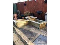 Garden planters made to size