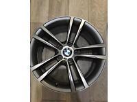 BMW M SPORT 4x ALLOYS 19 INCH 2 TONE GREY SILVER