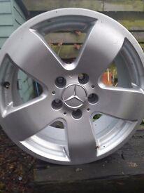 Four Merc Alloy wheels