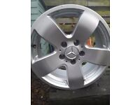 Four Merc Alloy wheels