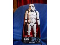 """Star Wars """" 18 inch Articulated Stormtrooper Figure """" With Blaster, New in Box"""