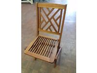 Hardwood Folding Chairs X 2